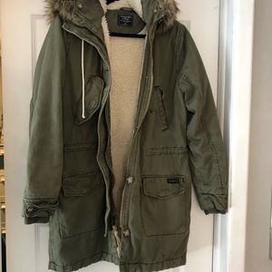 Military green Sherpa  jacket Abercrombie & Fitch